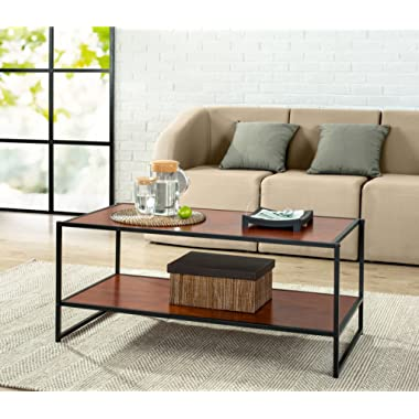 Zinus Troy Modern Studio Collection Deluxe Rectangular Coffee Table, Brown