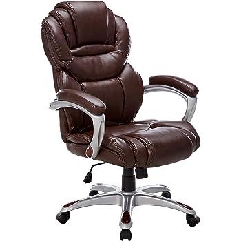 Amazon Com Flash Furniture High Back Brown Leather