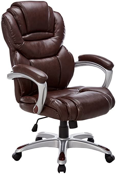 Flash Furniture High Back Brown Leather Executive Swivel Chair with Arms  sc 1 st  Amazon.com & Amazon.com: Flash Furniture High Back Brown Leather Executive Swivel ...