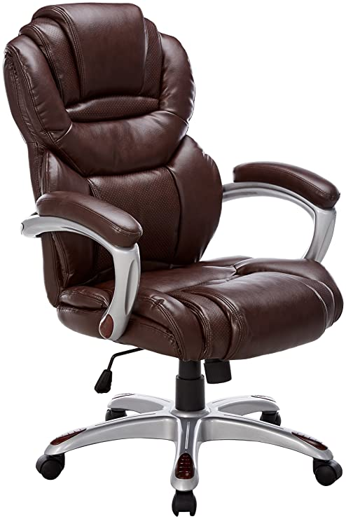 Admirable Flash Furniture High Back Brown Leather Executive Swivel Ergonomic Office Chair With Arms Go 901 Bn Gg Pabps2019 Chair Design Images Pabps2019Com