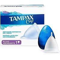 Tampax Copa Menstrual Flujo Abundante, Protección Comfort-Fit Día y Noche, Fabricada 100% con Silicona Médica, Testada…