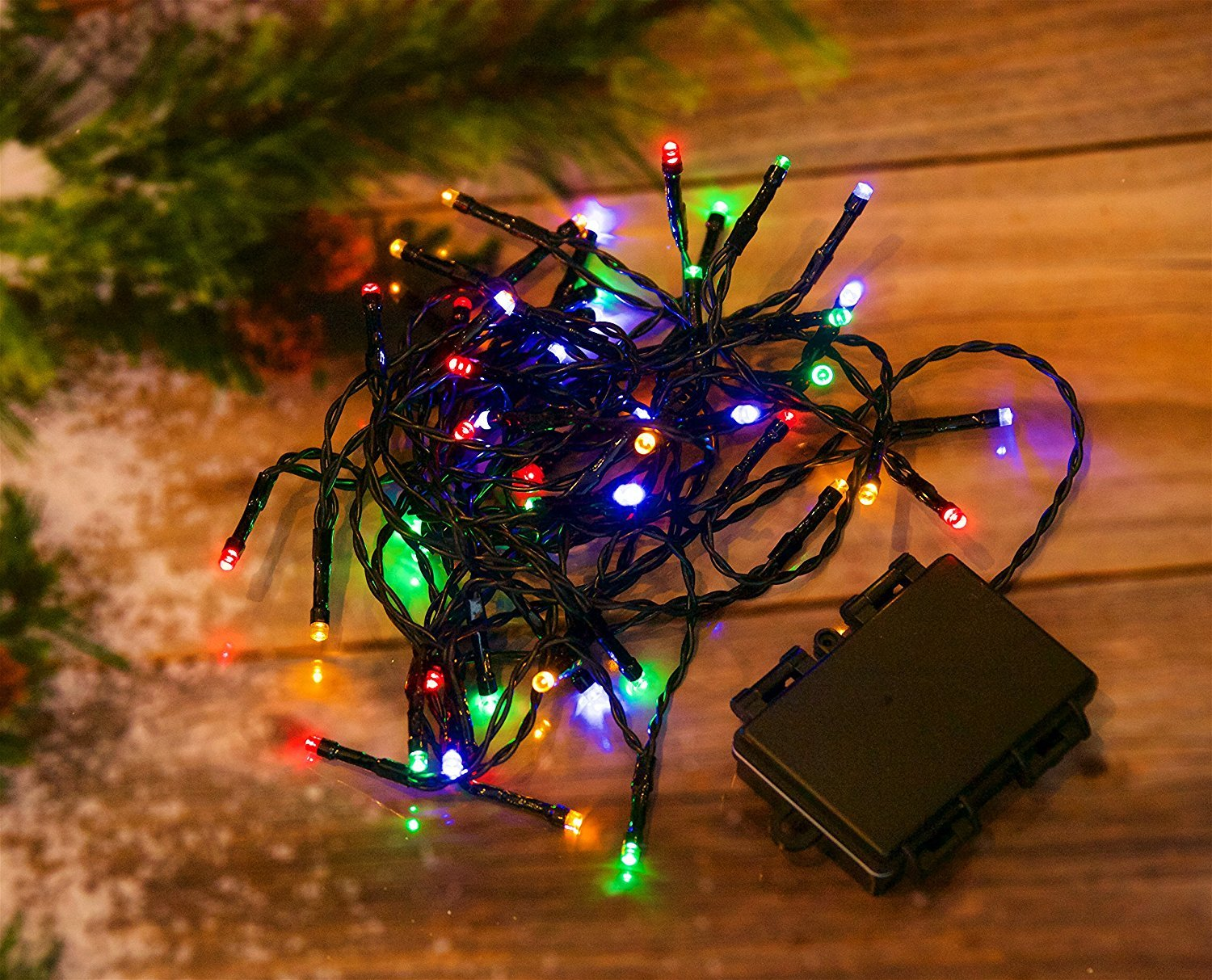 30 Blue LED Outdoor Waterproof Battery 8 Multi-Function with Timer String Lights Xmas Garden Christmas Party Fairy Best Artificial