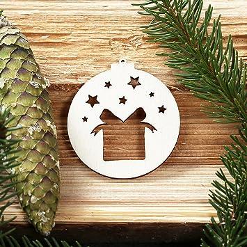 Fesselnd Baumkugeln Mit Weihnachtsmotiven   Baumschmuck, Baumbehang   Deko Aus Holz,  Weihnachtsschmuck:Geschenk