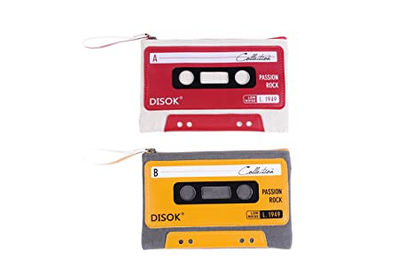 Pack de 4 Monederos Vintage- Retro Cassette , de color ...