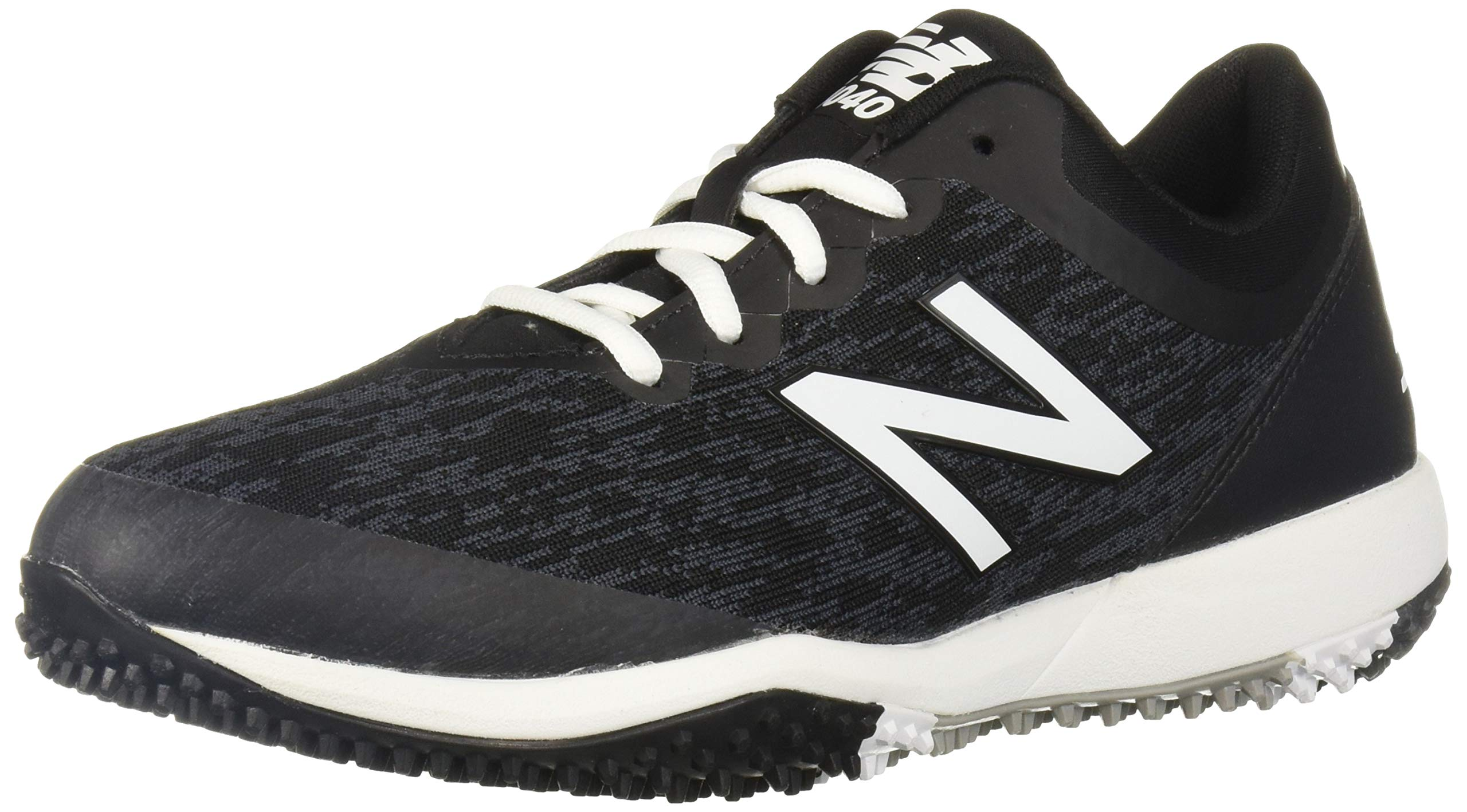 New Balance Men's 4040v5 Turf Running Shoe, Black/White, 5 D US