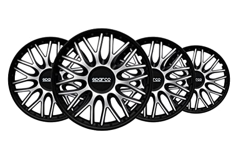 Amazon.com: Sparco SPC1596SVBK Wheel Trims Roma Bi-Colour ...