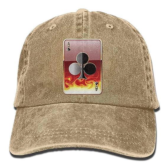 c78e3fd1a75 GHEDPO Cl Poker Denim Baseball Caps Hat Adjustable Cotton Sport Strap Cap  for Men Women  Amazon.es  Ropa y accesorios