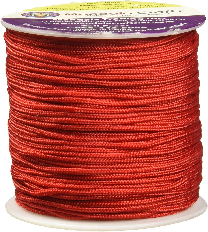 Red 1mm Satin Nylon Cord Macrame 60 Meters Jewelry String