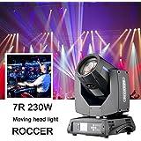 Beam Moving Head Sharpy 7R 230W Éclairage de scène pour mariage, Noël, Anniversaire, DJ, Disco, KTV, bar, fête