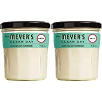 Mrs. Meyer's Clean Day Scented Soy Aromatherapy Candle, 35 Hour Burn Time, Made with Soy Wax and Essential Oils, Basil…