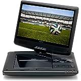 Xoro HSD 1011 Tragbarer DVD-Player mit DVB-T2 Tuner und 25,6 cm (10,1 Zoll) Bildschrim (DVB-T2 H.265 HEVC, USB 2.0, SDHC, Lithium Akku, Teleskop-Antenne, 12V Adapter, Fernbedienung) schwarz