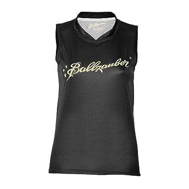 Ballzauber - Camiseta de fútbol sala para mujer, tamaño M, color negro