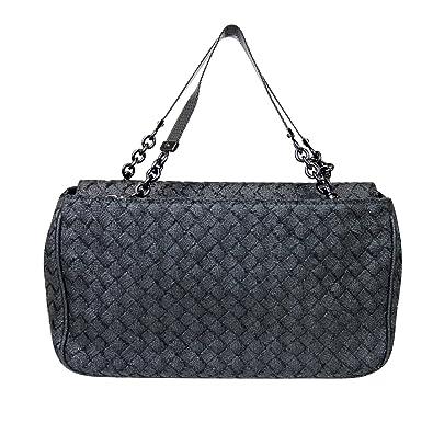 c3b4ca22c59b Amazon.com  Bottega Veneta Intrecciato Black Fabric Tote Evening Bag 309349  1000  Shoes