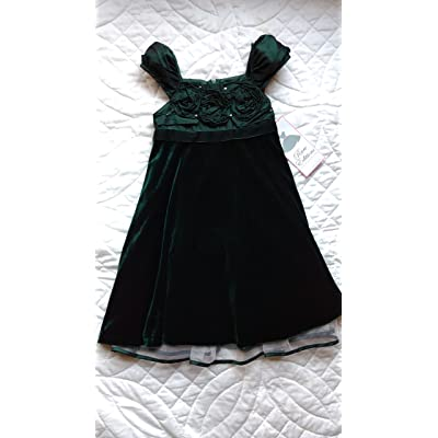 Rare Editions Christmas Dresses.Rare Editions Green Velvet Flower Girl Pageant Holiday