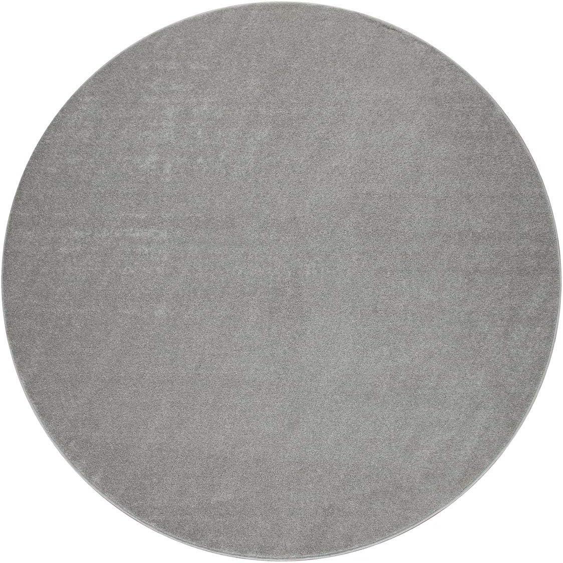 semplice in argento tinta unita Tappeto da soggiorno 60 x 100 cm a pelo corto TT Home alla moda e morbido