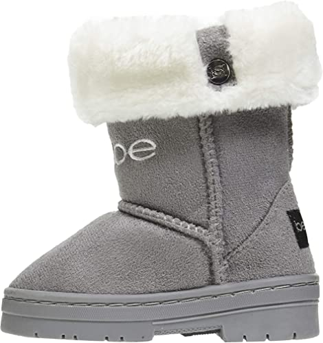 Cute Baby Slip On Only Faux Fur Toddlers Kids Girls Winter Boots Shoes Size 5-10