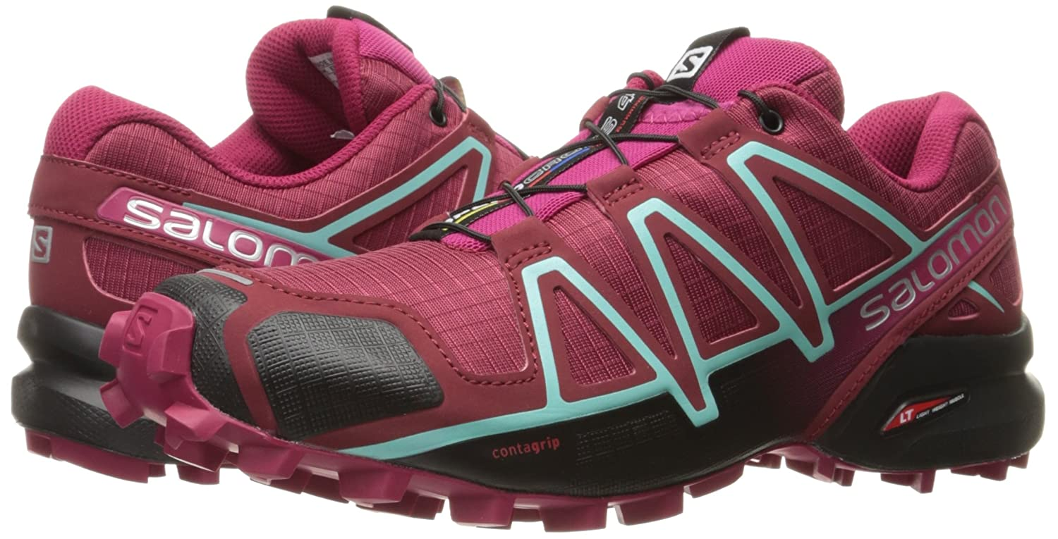Salomon B01HD2SF86 Women's Speedcross 4 W Trail Runner B01HD2SF86 Salomon 11 B(M) US|Tibetan Red/Sangria/Black 7ec43f