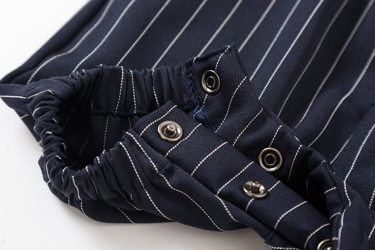 Baby Boys Gentleman Jumpsuit Outfits Suits Bow Tie Overalls Clothes Set (0-6Months, Blue) by Baby Love (Image #4)