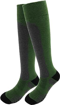 Wool Ski Socks, Cold Weather Socks for Snowboarding, skiing socks, Thermal Knee-high Warm Socks, Hunting, Outdoor Sports
