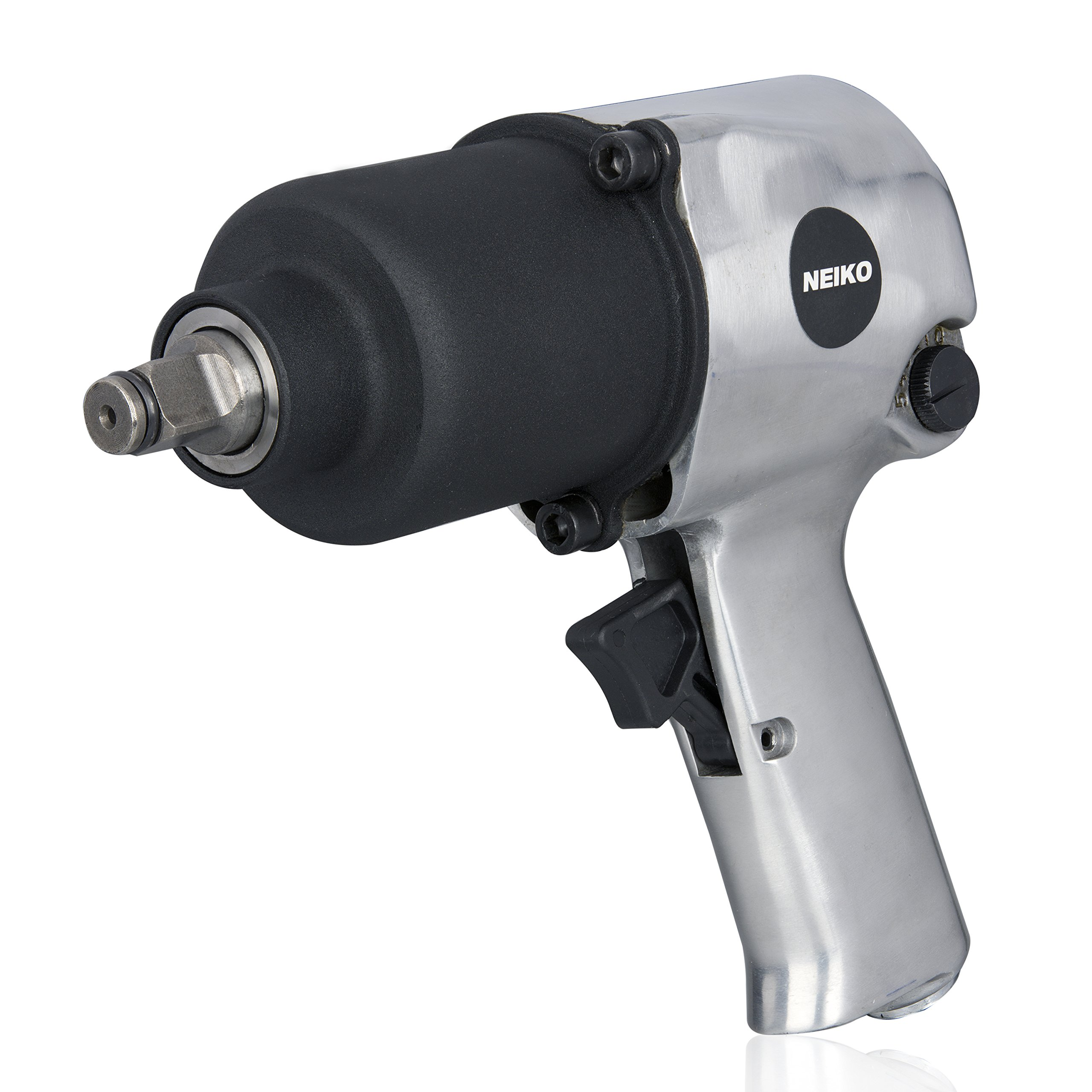 Neiko 31390A Short Shank Twin Hammer Impact Wrench, 1/2'' Drive | Reversible & Adjustable Torque | 530 Ft-Lb, 7500 RPM