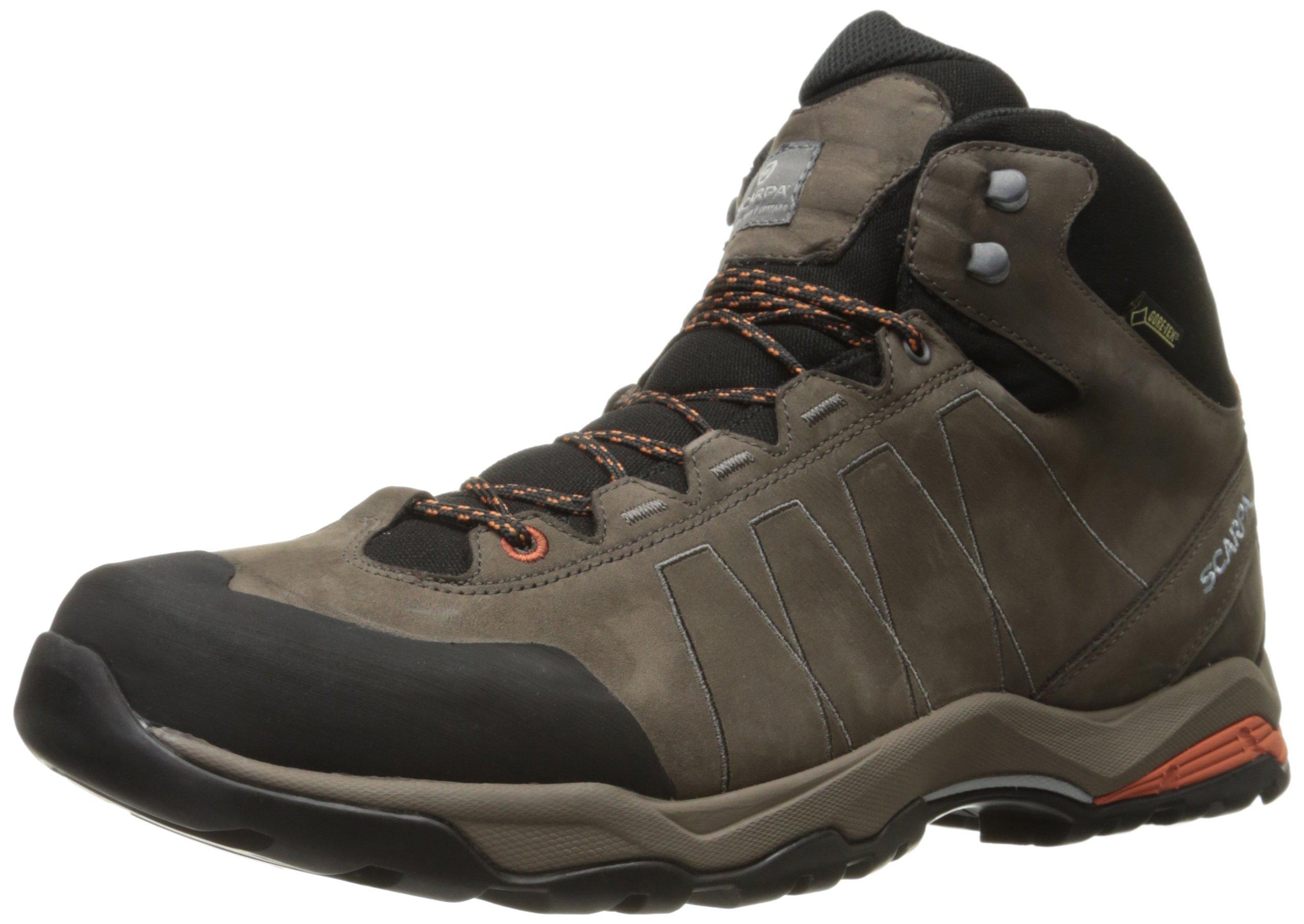 Scarpa Men's Moraine Plus Mid GTX Boot Hiking Boot, Charcoal/Mango, 42.5 EU/9.5 M US