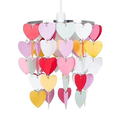 Girls Pretty Hearts Bedroom/Nursery Ceiling Pendant Light Shade ...