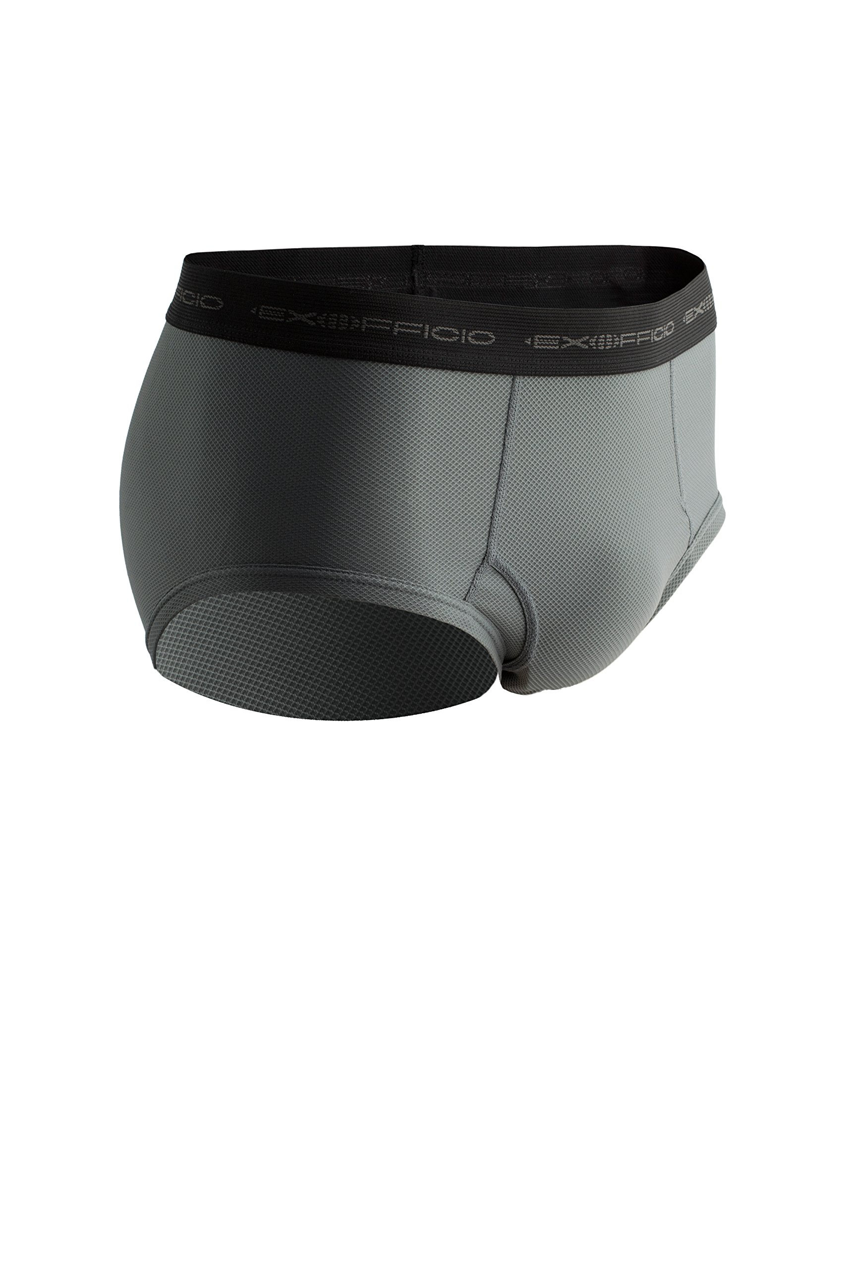 ExOfficio Men's Give-N-Go Brief (2 Pack - X-Large, Charcoal)