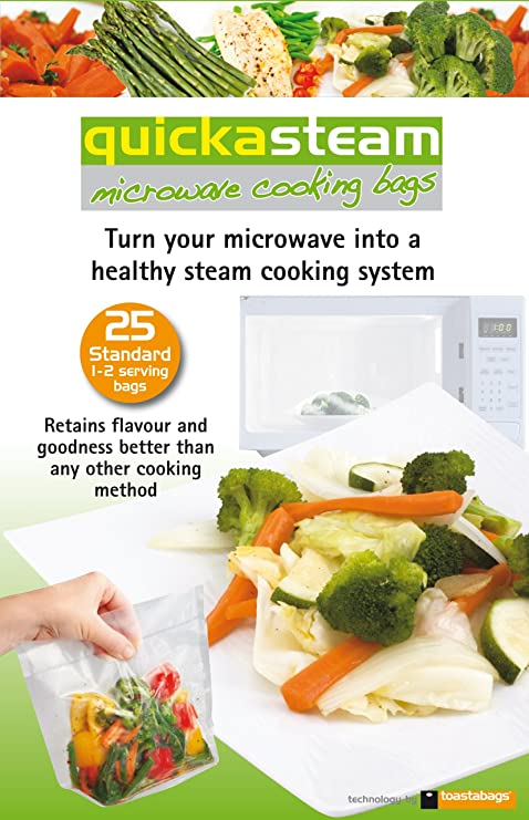Bolsas de cocción QUICKASTEAM microondas tamaño estándar 25 ...