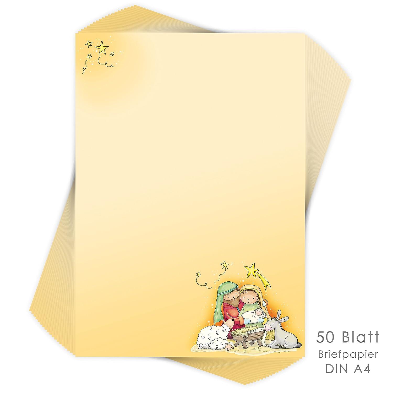 'Natale di cancelleria per bambini Natale Presepe 50fogli DIN A4/Natale Cancelleria/cancelleria per bambini/Natale emufarm