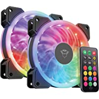 Trust Gaming 22972 RGB Aydınlatmalı PC Kasası Fanı 2'li Paket, Siyah