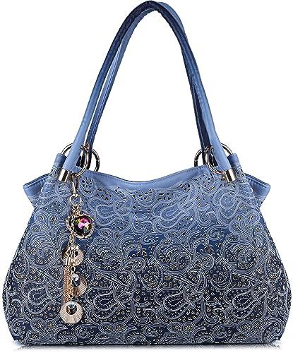 d5d7cc22898 Tinksky Tote Handbag Womens Shoulder Bag Casual Signature Printing Pu  Leather Tote
