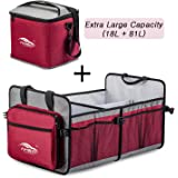 AMEIQ Car Trunk Organizer,XXL Outsize Storage Space,Heat Preservation Bag,Watertight Insulated Lunch Bag,Travel Picnic Storage Box,Reinforce Bottom and Handle,Collapsible,Best for All Vehicle and Home