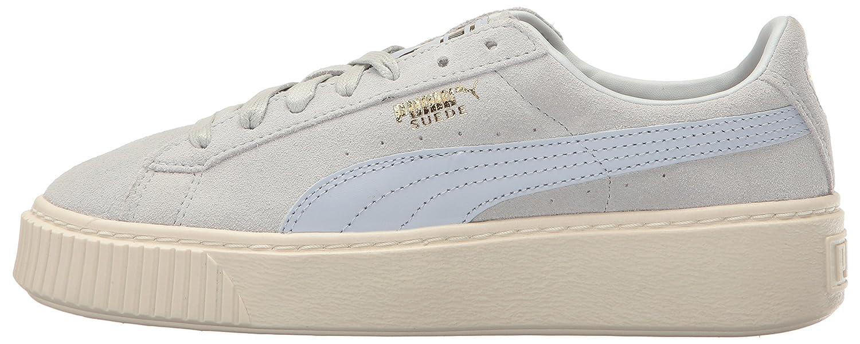 Puma Halogen Frauen-Veloursleder-Plattform Gold-Schuhe Halogen Puma Blau-whisper Weiß d31b17