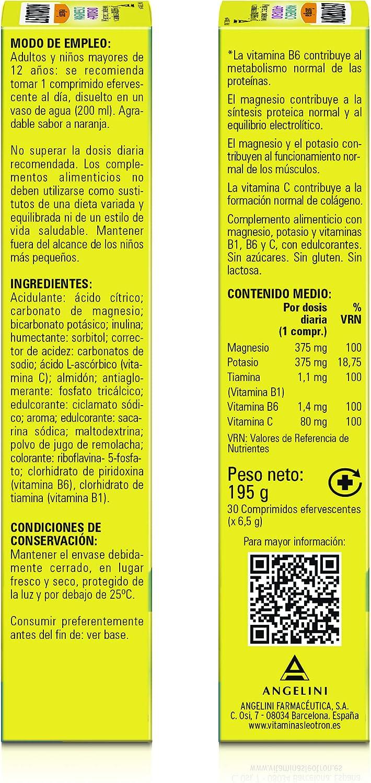 Leotron Magnesio y Potasio - 30 Comprimidos - Complemento ...