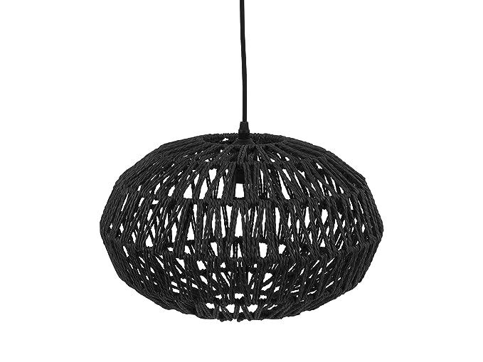 Leitmotiv - Lámpara de techo (papel), color negro: Amazon.es ...