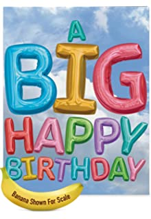 amazon com xl happy birthday greeting card 8 5 x 11 big