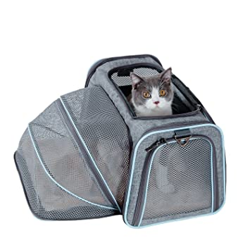 680306fb08 Petsfit Cat Carrier Expandable Soft Pet Carrier Most Airline Approved Pet  Carrier Soft-sided (