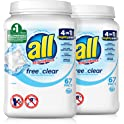 402-Count All Mighty Pacs Laundry Detergent Clear for Sensitive Skin