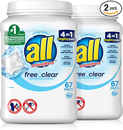 all mighty pacs free clear laundry detergent 45ct