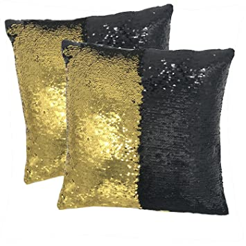 Amazon.com: Magic Reversible lentejuelas funda de almohada ...
