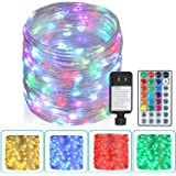 Outdoor String Lights,80 Ft Rope Lights 240 LEDs Color Changing Lights with Remote, Waterproof Lights Plug-in Outdoor Fairy L