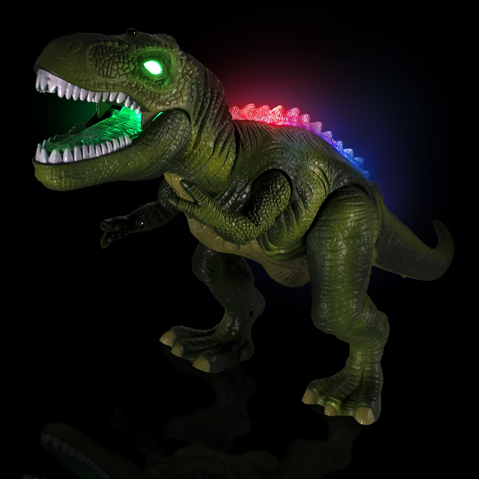 Windy City Novelties Led Light-Up Walking & Roaring T-Rex Dinosaur Toys for Boys & Girls (T-Rex with Remote) by Windy City Novelties (Image #2)