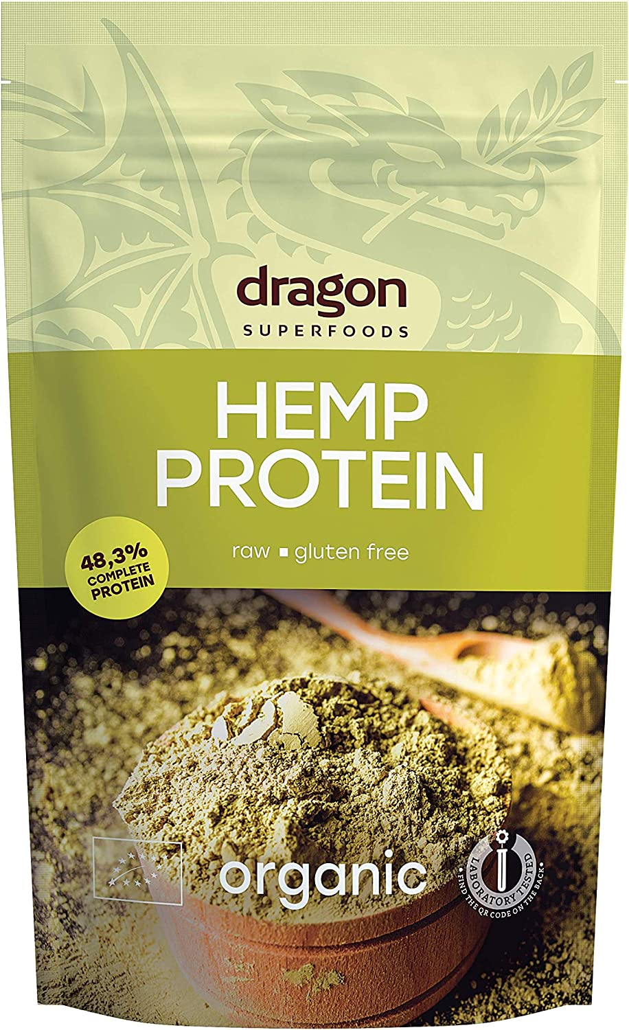 Dragon Superfoods HEMP Seeds Vegan Protein Powder. 100% Bio Organic Plant Based Soy and Gluten Free Protein for Optimum Nutrition. Non Chemically Extracted - 200gr (10-13 Servings)