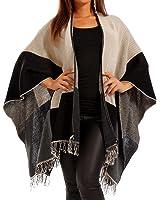 Made Italy Women's Cape Plain Sleeveless Cape One size
