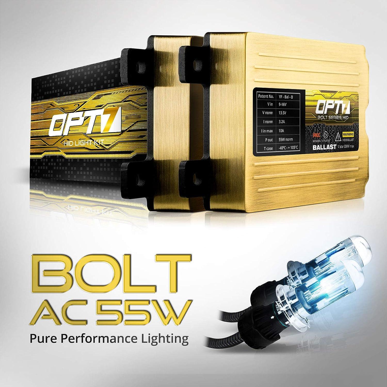 HID Kits OPT7 Bolt AC 55w H10 9140 9145 HID Kit 2 Yr Warranty 6x ...