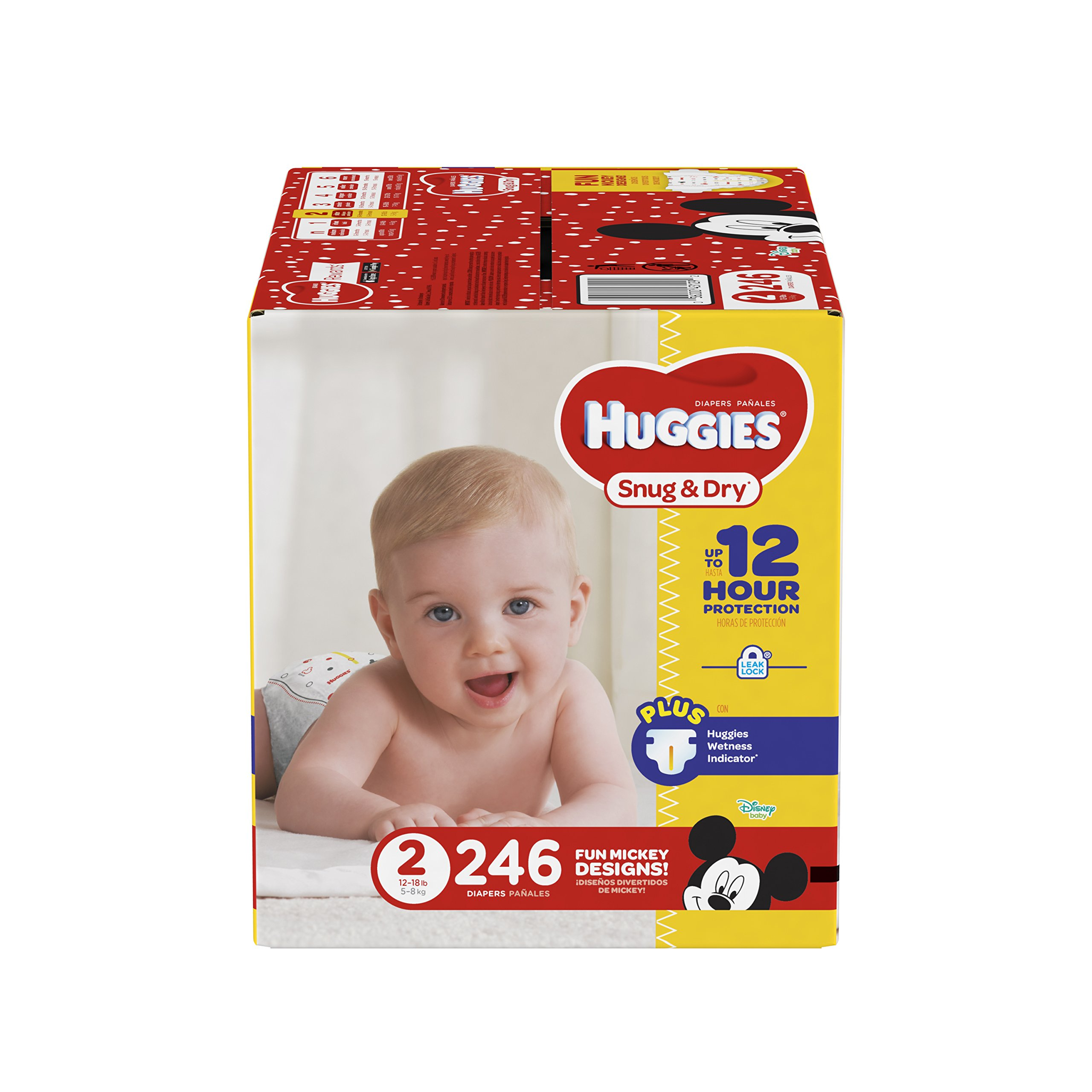HUGGIES Snug & Dry Diapers, Size 2, 246 Count, ECONOMY PLUS (Packaging