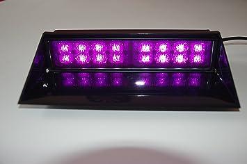 Purple Funeral Led Lights Windsheild Lighting Dash Deck