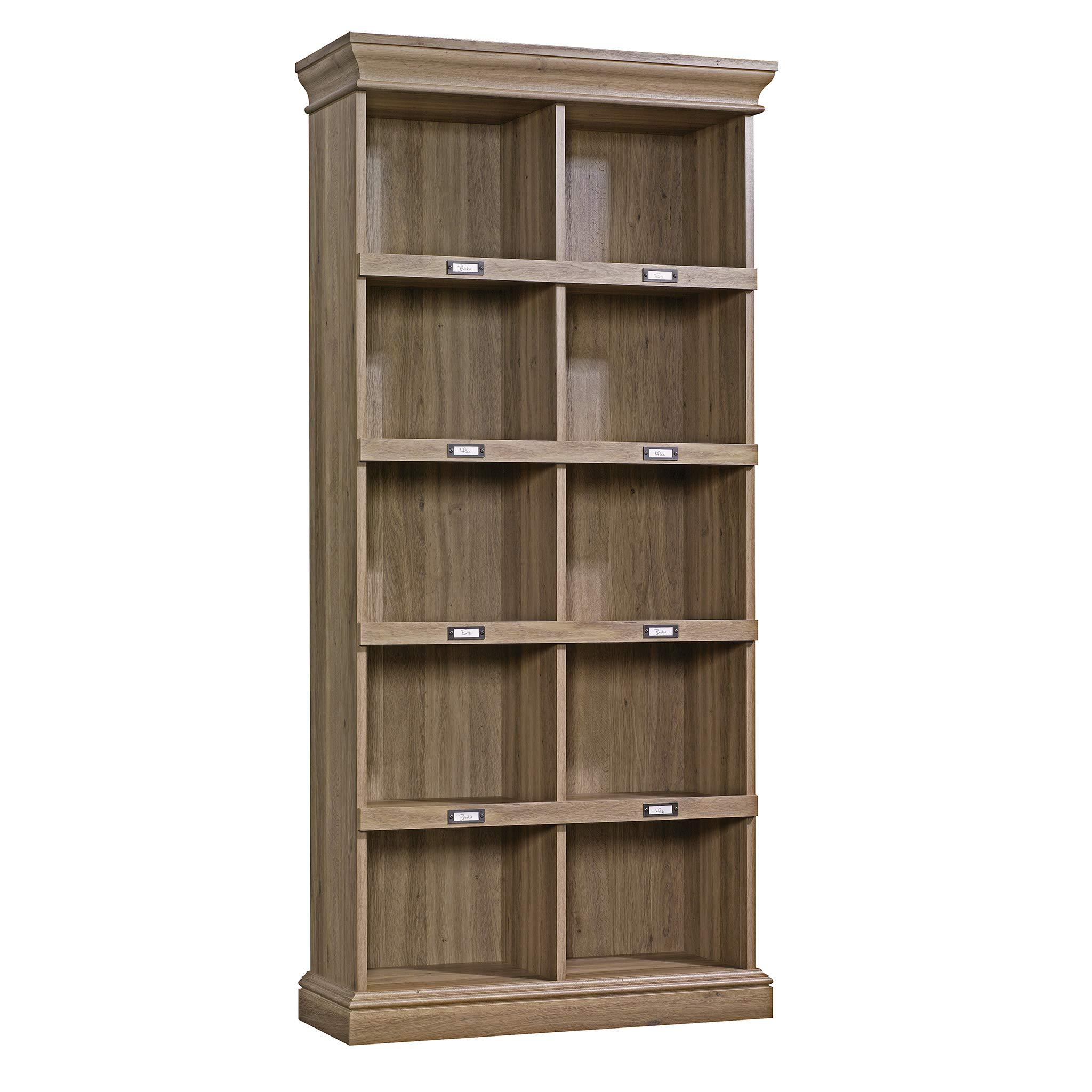 Sauder 414108 Barrister Lane Bookcase, L: 35.55'' x W: 13.50'' x H: 75.04'', Salt Oak finish