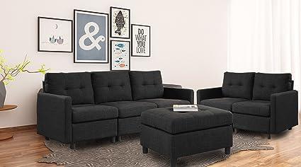 Bon DAZONE Modular Sectional Sofa Assemble 6 Piece Modular Sectional Sofas  Bundle Set Cushions, Easy