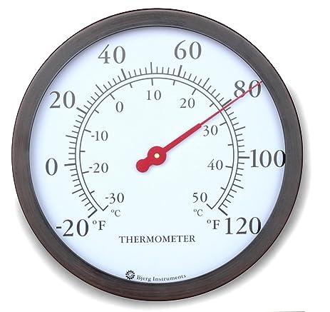 12u0026quot; Steel Enclosure Decorative Indoor / Outdoor Patio Wall Thermometer  ...